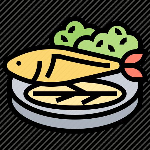 dinner, fish, healthy, steak, tuna icon