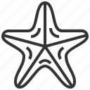 animal, seafood, star, starfish icon