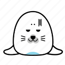 animal, avatar, emoticon, expression, face, seal, smiley icon