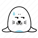 animal, emoji, emoticons, expression, face, seal, smiley icon