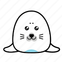 animal, emoticons, expression, face, sad, seal, smiley icon