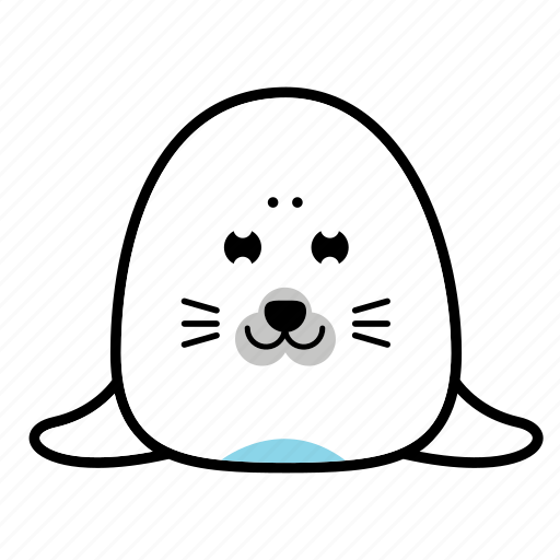 animal, emoticons, expression, face, sad, seal, smiley icon