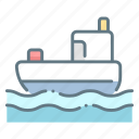 boat, cruise, fishing, motor, ocean, travel icon