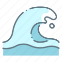 disaster, motion, sea, water, wave icon