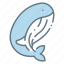 animal, cetacean, sea, sealife, whale icon