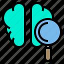 brain, creative, find, idea, search icon