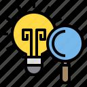 bulb, idea, lamp, light, search icon