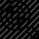 cross, delete, lense, search, tool icon