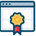 badge, page, quality, rank, seo, web icon
