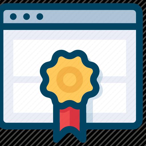 badge, page, quality, rank, seo, web icon