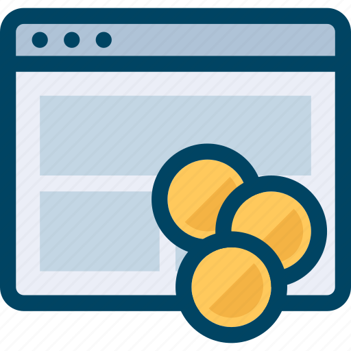 Coin, monetisation, money, page, seo, web icon - Download on Iconfinder