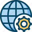 development, globe, internet, seo, settings, web icon