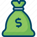 affiliate marketing, bag, budget, dollar, finance, money icon