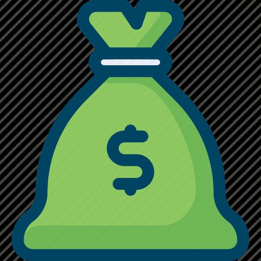 affiliate marketing, bag, budget, dollar, finance, money icon