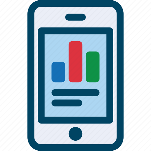 Analytics, chart, data, mobile, phome, seo icon - Download on Iconfinder