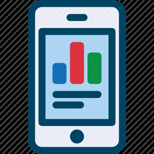 analytics, chart, data, mobile, phome, seo icon
