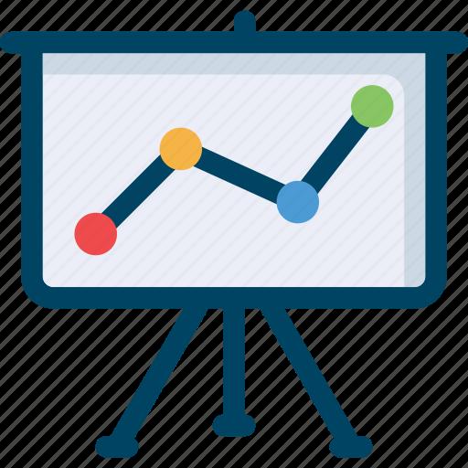 analytics, graph, presentation, report, seo icon