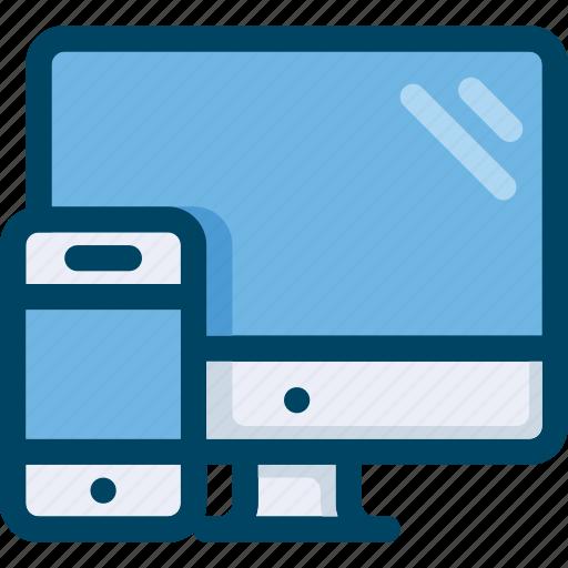 adaptive, computer, design, mobile, optimisation, responsive, web icon
