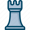 business, chess, seo, strategy, tower icon
