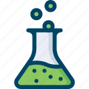 chemistry, flask, marketing, research, seo icon