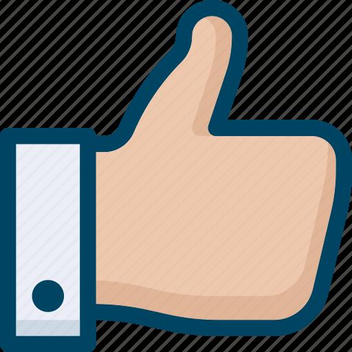 hand, like, seo, social, thumb up icon
