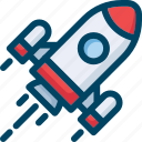 launch, mission, rocket, seo, space, start, startup icon