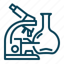 lab, laboratory, microscope, science icon