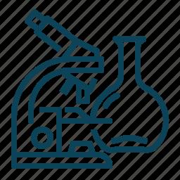 lab, laboratory, microscope, science icon