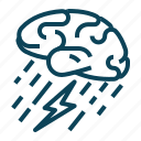 abstract, brain, creative, storm icon