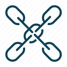 chain, internet, link, network icon