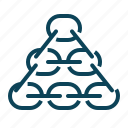 chain, internet, link, network, pyramide, seo icon
