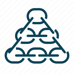 chain, link, network, pyramide icon