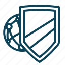 internet, protection, security, shield icon