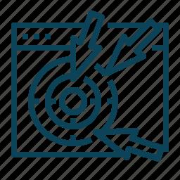 arrows, browser, click icon