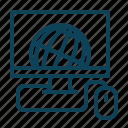 internet, monitor, network, screen icon
