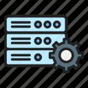 database optimization, server, settings, processing icon