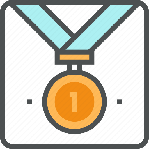 award, gold, leadership, medal, ribbon, victory, win, winning icon