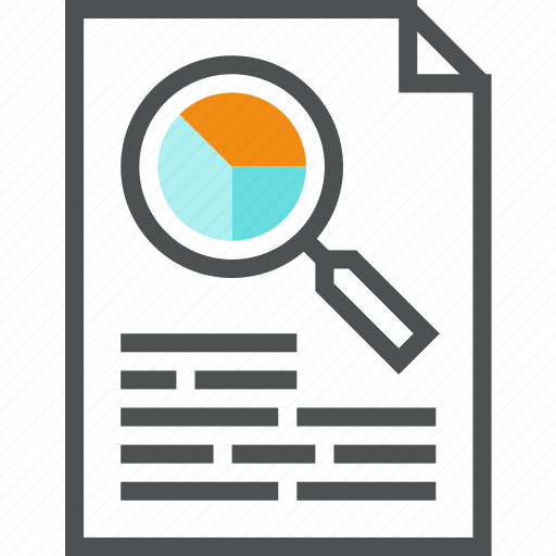 analysis, audit, data, document, file, finance, market, report icon