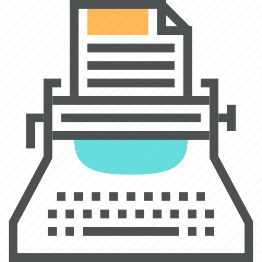 article, blog, copywriting, publish, story, text, typewriter icon
