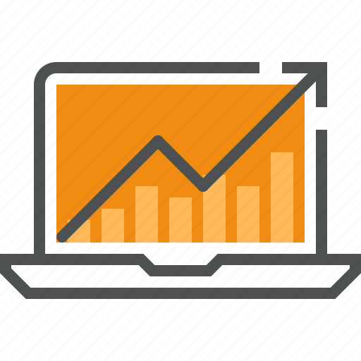 gain, graph, growth, internet, market, profit, sales, stock, success icon