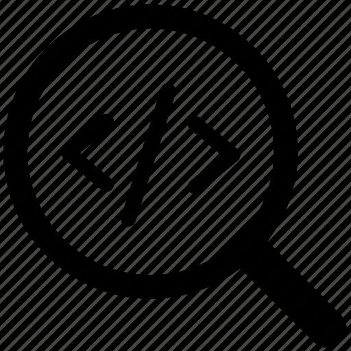 coding, element, html, inspect, programming, web code icon