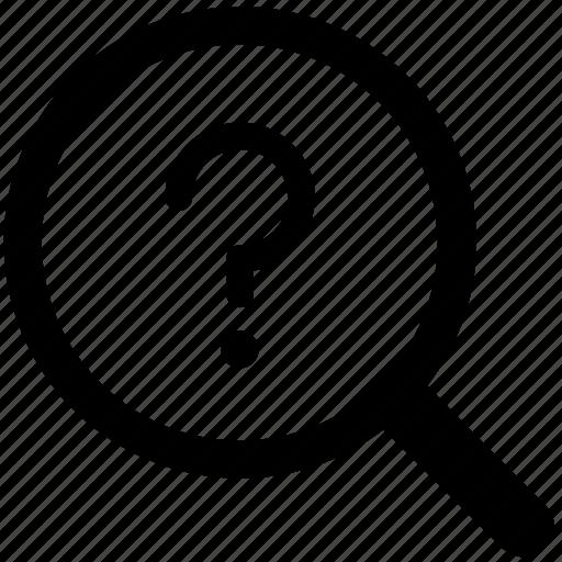faq, find, knowledge, lost, queries, questions, search icon