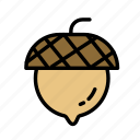 acorn, relaxation, seasonal, vacation icon