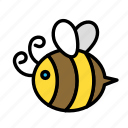 bee, relaxation, seasonal, vacation icon