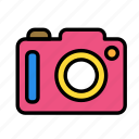camera, relaxation, seasonal, vacation icon