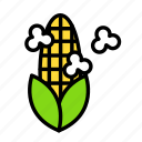 corn, relaxation, seasonal, vacation icon