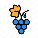grapes, relaxation, seasonal, vacation icon