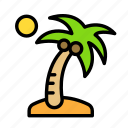 island, relaxation, seasonal, vacation icon