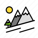 mountain, relaxation, seasonal, snow, vacation icon