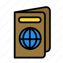 passport, relaxation, seasonal, vacation icon